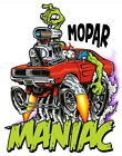 Mopar Maniac T-Shirt Rat Fink Art --Mens Various Sizes--Brand New-- $19.99 USD on eBay