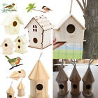 Внешний вид - Wooden Bird House Birdhouse Hanging Nest Nesting Box W/ Hook Home Garden Decor