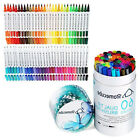 60 Colors Art Markers Dual Tips Sketch Coloring Brush Pen Fineliner Colored Pens