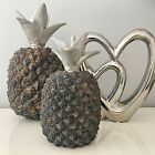 Silver Black Pineapple Modern Contemporary Ornament Decorative Item Home Decor