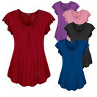 Plus Size Women's Summer Short Sleeve Blouse T Shirt Tops Casual Loose Tunic Tee