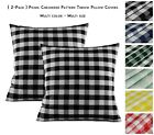 Aiking Home ( 2-pack ) Picnic Checkered Decorative Throw Pillow Covers