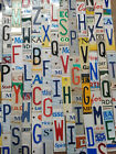 Cut Embossed License Plate Letters, Numbers For Projects Signs Arts & Crafts Etc