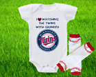 Minnesota Twins Outfit Onesie And Leggings Set Watching WIth Grandpa on Ebay