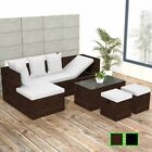 Vidaxl Garden Sofa Set Poly Rattan Wicker Corner Couch Furniture Black/brown✓