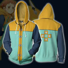 Hot Seven deadly sins 3D Sweatshirt Costume Zip Up Jacket Coat Cosplay Hoodie