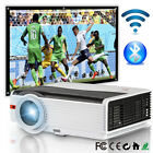 Android WiFi Bluetooth Home Theater Projector Kodi App HDMI 1080p 100'' Screen