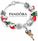 Authentic Pandora .925 Silver Betty Boop Christmas Charm Bracelet with 11 Beads $79.99 USD on eBay