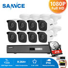 SANNCE 1080N 8CH /4CH DVR 1080P Outdoor White Security Camera System 1TB /NO HDD