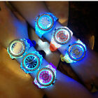 Fashion Men Women Wrist Watch Sport LED Backlight Crystal Quartz Analog Watches image