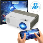 Smart HD Android Projector Wifi Bluetooth Video Home Theater HDMI Kodi Miracast
