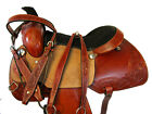 PRO WESTERN 15 16 17 ROPING ROPER RANCH WORK TRAIL HORSE LEATHER SADDLE TACK SET