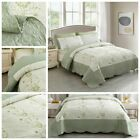 Summer Bedspreads Embroidery Floral Quilts Lightweight Coverlet Set Quilts Set image