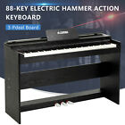 88 Key Electronic Keyboard Digital Piano LCD General/Hammer Action W/ Pedal Seat