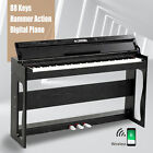 88 Key Electronic Keyboard Digital Piano LCD General/Hammer Action W/ Pedal Seat <br/> USB/MIDI Terminal✔80 Demo✔Record✔Playback✔Pedal Board✔