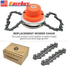 Coil Chain Trimmer Head Brush Cutter Grass Trimmer Set for Lawn Mower Garden