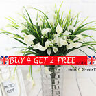 Plastic Outdoor Artificial Flowers Fake False Plants Grass Garden Lily Tulip Be