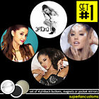 Ariana Grande SET OF 4 BUTTONS or MAGNETS or MIRRORS pinback pin badges #1112
