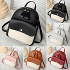 Women Girls School Bag PU Leather Backpack Mini Rucksack Purse Travel Handbag image
