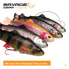 Savage Gear 4D Line Thru Pulsetail Trout Lures - Pike Zander Salmon Fishing