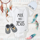 Funny Milk  Jesus Baby Boy Clothes Onesies Name Hat Shoes Baby Gift Newborn