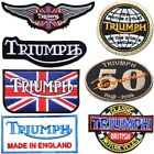 TRIUMPH Motorcycles Biker Patch Iron on Applique T shirt Jacket Cap Badge $4.99 USD on eBay