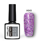 LEMOOC Gel Nail Pollish Soak Off Glitter UV Gel Varnish Colorful Decor 224Colors