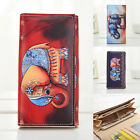 US Women Leather Clutch Wallet Elephant Long Card Holder Case Purse Lady Handbag image