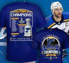 ST.LOUIS BLUES - CHAMPIONS STANLEY CUP 2019 T-SHIRT Limited Edition $24.99 USD on eBay
