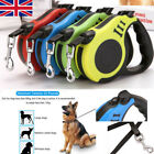 Retractable Dog Leads Cord Tape Vario Neon Classic Extending Lead up to 110 lbs