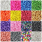 100x Pearl 9x6mm Barrel Plastic Pony Beads - Made in the USA - 25 Color choices