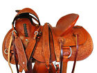 WESTERN HORSE RODEO SADDLE WADE ROPING TOOLED LEATHER RANCH ROPER 15 16 17 TACK
