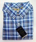 NWT Gold Label Roundtree York Heather Blue Check LS Men Shirt Big Tall Many Size