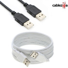 USB Cable 2.0 A Type Male M/M Cord Date Speed Wire 3 6 10 15 FT Black White Lot