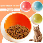 Creative Cat Ceramic Space Capsule Bowl Tableware Pet Bowls Pet Food Water Bowl