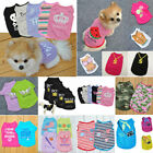 Pet Dog Cat Letter Printed Clothes Puppy Small Summer Vest T-Shirt Dress US