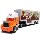 Disney Pixar CARS King/Chick Hicks/MACK HAULER SUPER-LINER Truck Toy Diecast 123