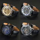 Luxury Steampunk Automatic Mechanical  Leather Chronograph Dial Men Watches image