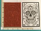 Kyпить SUGAR SKULL Day of the Dead Red Rubber Stamp U pick Size/Mounted/Unmtd/Cushioned на еВаy.соm
