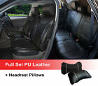 Black 100% PU Leather Full 5 Seats Front Rear + 2 Pillows to Dodge 802-09 $89.95 USD on eBay