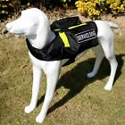 SERVICE DOG Vest Harness Removable 2 Label Patches with POCKETS & Side Bags Vest