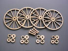 "Laser-cut Wagon or Cannon Wheels - 3, 3½, or 4"" Baltic Birch & hubs & axle pegs"