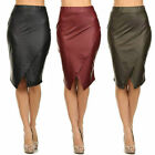 Skirt Faux Leather Wrapped High Waist S M L New Black Olive Burgundy Sexy