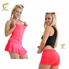 WOMEN PINK GOLF VISOR VEST HOT PANT STRETCHY GYM 70's 80's HEN NIGHT FANCY DRESS