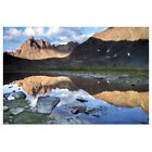 Kyпить Clearwater Mountains Reflecting In Lake Poster Art Print, Mountain Home Decor на еВаy.соm