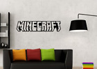 Minecraft Text Vinyl Decal Image For Childrens Bedroom Or Gaming Room