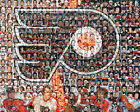 Philadelphia Flyers Mosaic Print Art Created Using the Greatest Flyer Players. $42.0 USD on eBay