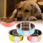 C1E7 Plastic Bowl Pet Feeding Bowl Dog Feeder Pet Bowl Pet Cage Detachable