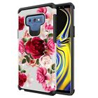 Red Floral Cute Phone Case For Galaxy Note 10 9 8 5 4 S6 S7 S8 S9 S10e S10 Plus
