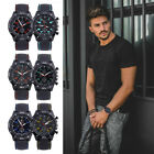 Fashion Mens Analog Quartz Silica Gel Sport Outdoor Wrist Watches Gifts New image